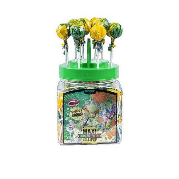 Euphoria Cannabis Energy + Maxi Lollipops 25g x 60pcs