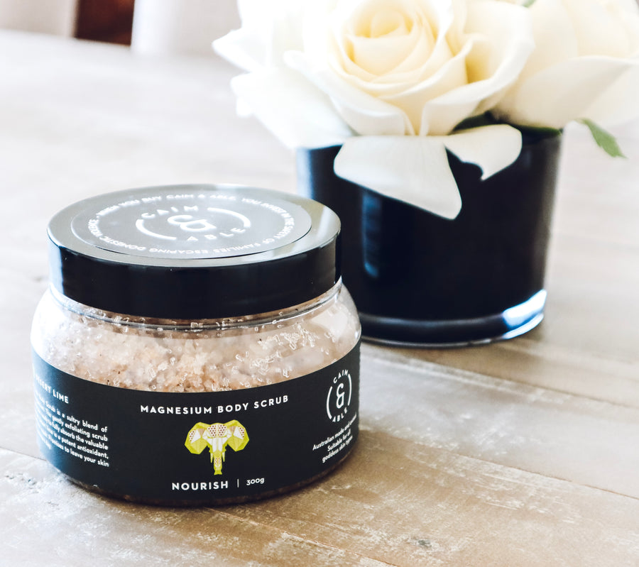 Magnesium Salt Body Scrub - Coconut & Lime