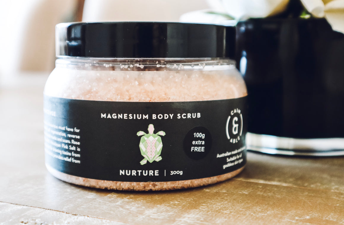 Magnesium Salt Body Scrub - Rose & Frankincense