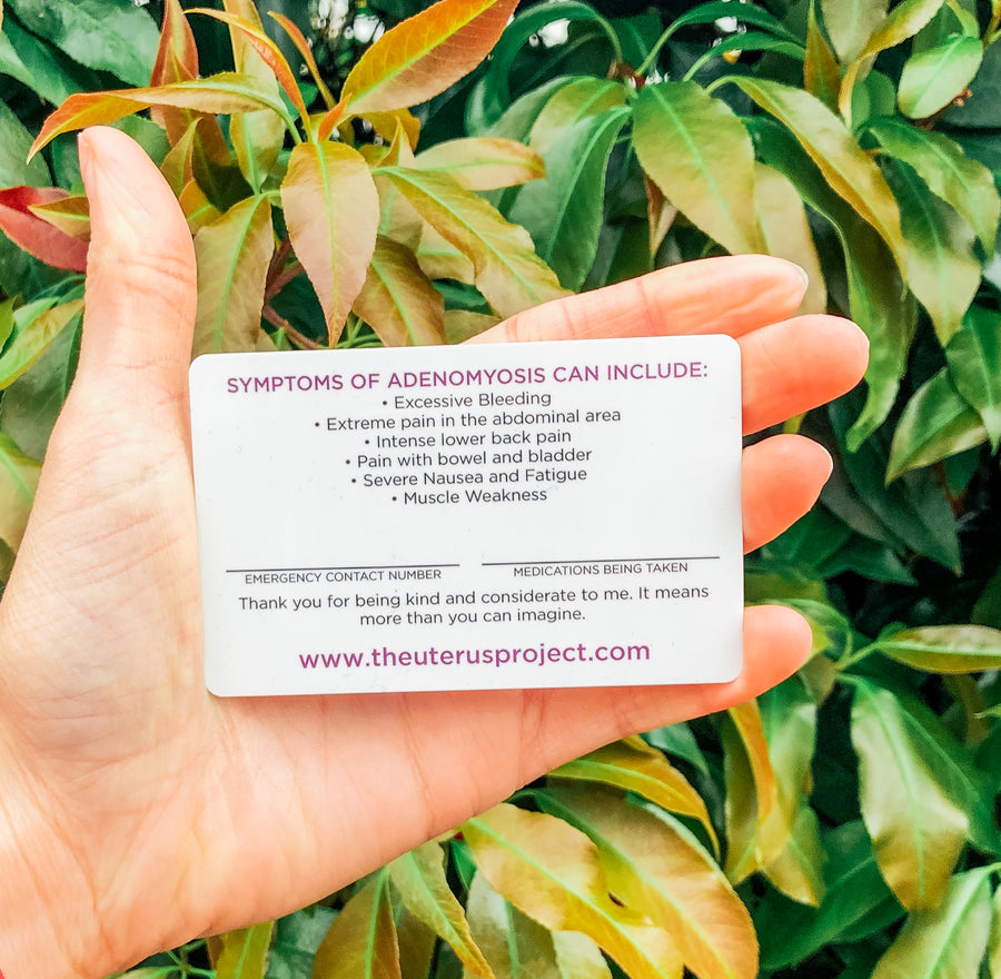 Adenomyosis Emergency Card