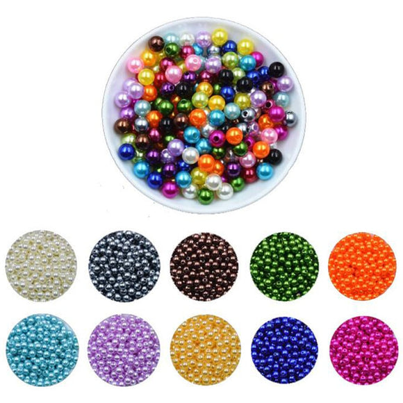 Good Quality 250pcs 6mm Mixed Candy Color Acrylic Rubber Beads Neon Matte Round Spacer Loose Beads Jewelry Handmade Necklace Diy Moderate Price Beads