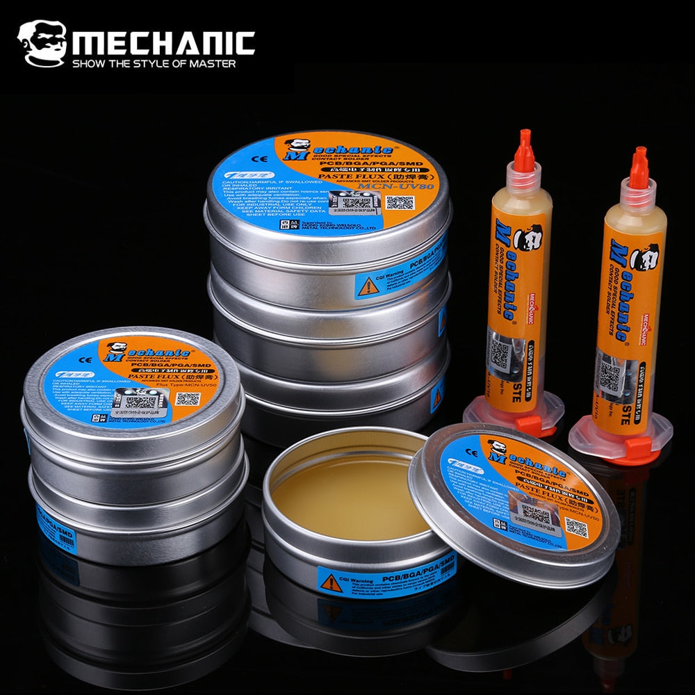 MECHANIC Flux Solder Paste PCB BGA SMD Soldering Flux Paste Grease No-Clean  Welding Soldering Repair Tools