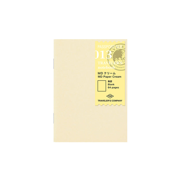013 Refill MD Paper Cream Notebook (Passport Size)