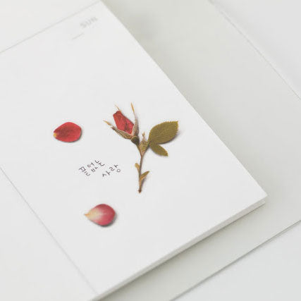 APPREE: Pressed Flower Sticker (Mini Rose)