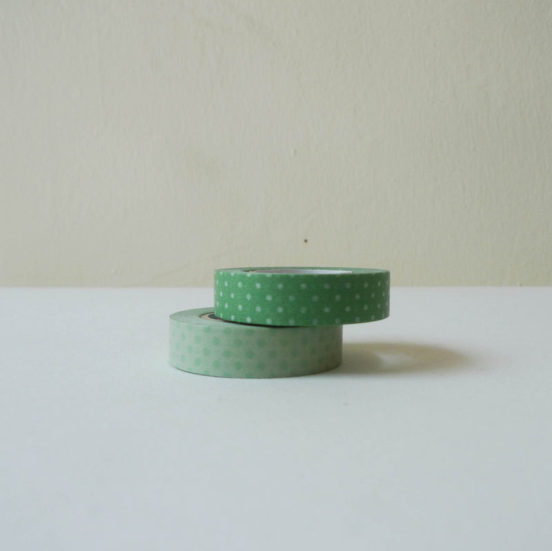 Classiky Washi Tape: Green Dots