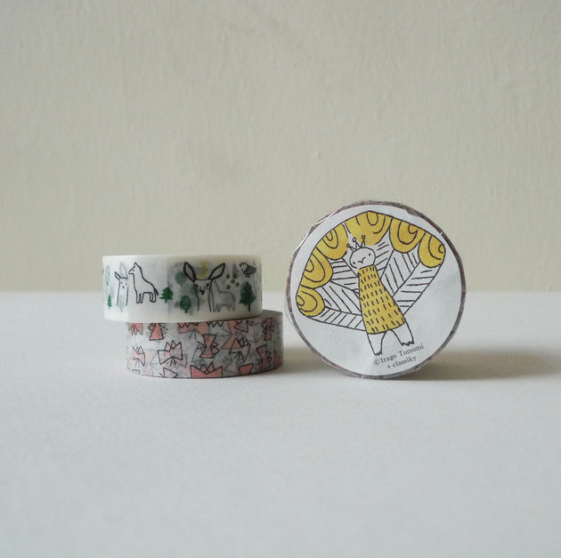 Tomomi Irago x Classiky Washi Tape: Forest+Butterfly A Set of 2