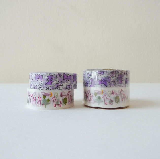 Tomomi Irago x Classiky Washi Tape: Forest+Butterfly B Set of 2