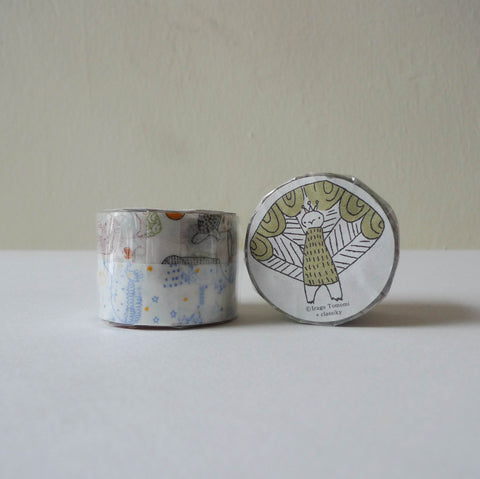 Tomomi Irago x Classiky Washi Tape: Beasts+Starlit Sky B Set of 2