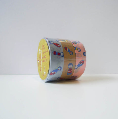 Yonagadou x Classiky Washi Tape: Kokeshi Set of 3