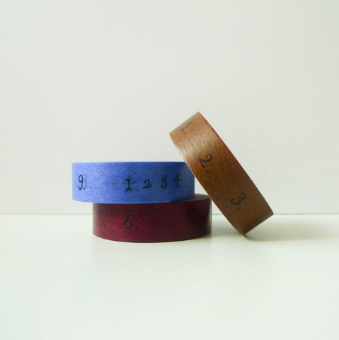 Yoko Inoue x Classiky Washi Tape: Number 15mm