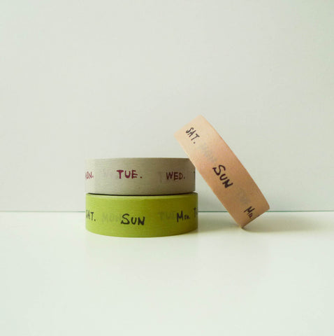 Yoko Inoue x Classiky Washi Tape: Weekly 15mm
