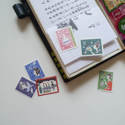 Mihoko Seki x Classiky: Water-activated Stamp Stickers