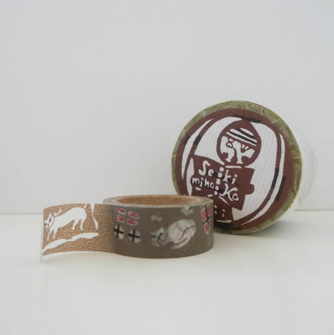 Mihoko Seki x Classiky Washi Tape: Cats Set of 3