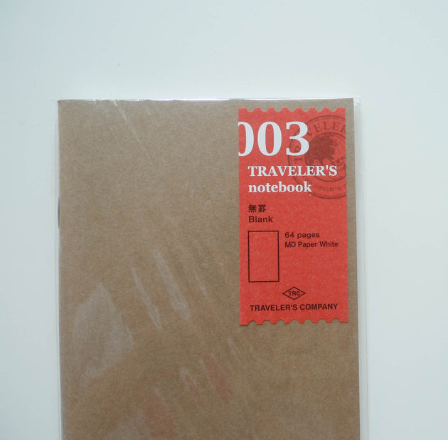 003 Refill Blank Notebook (Regular Size)