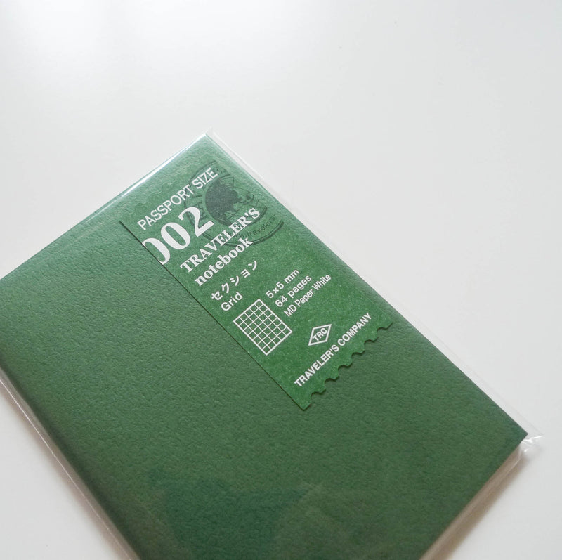 002 Refill Grid Notebook (Passport Size)