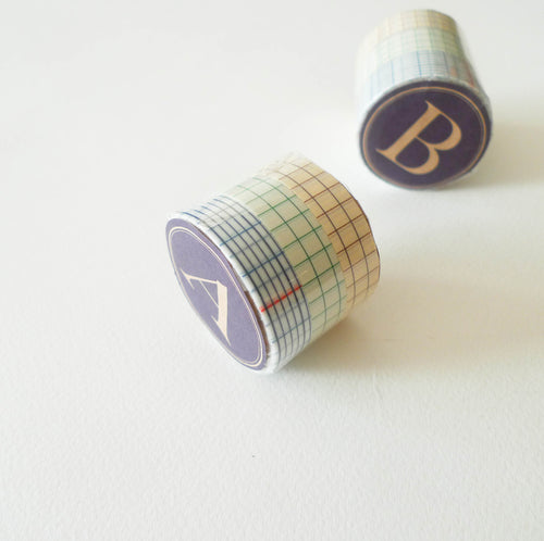 Classiky Washi Tape: Grid Set of 3