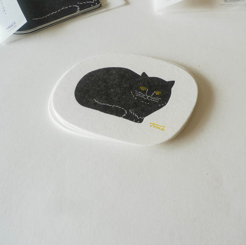 Tomotake x Classiky: Letterpress Cat Coaster