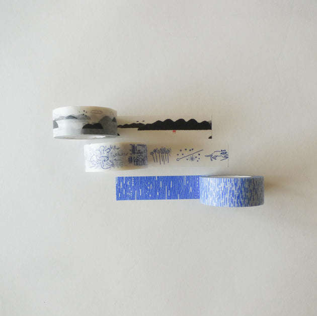 Shunshun x Classiky Washi Tape: Sketches Set of 3