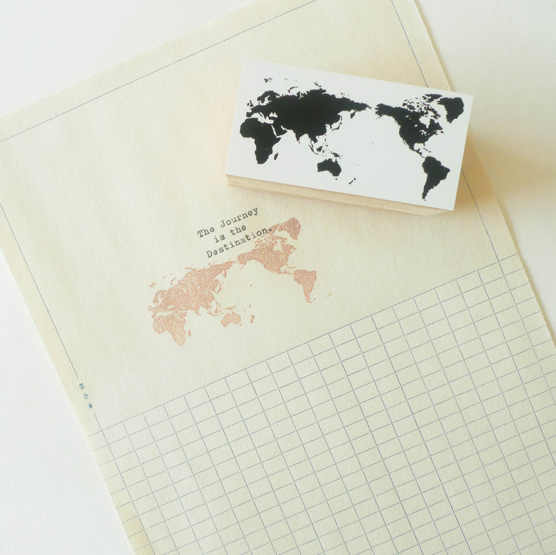 Mizushima: Stamp - World Map