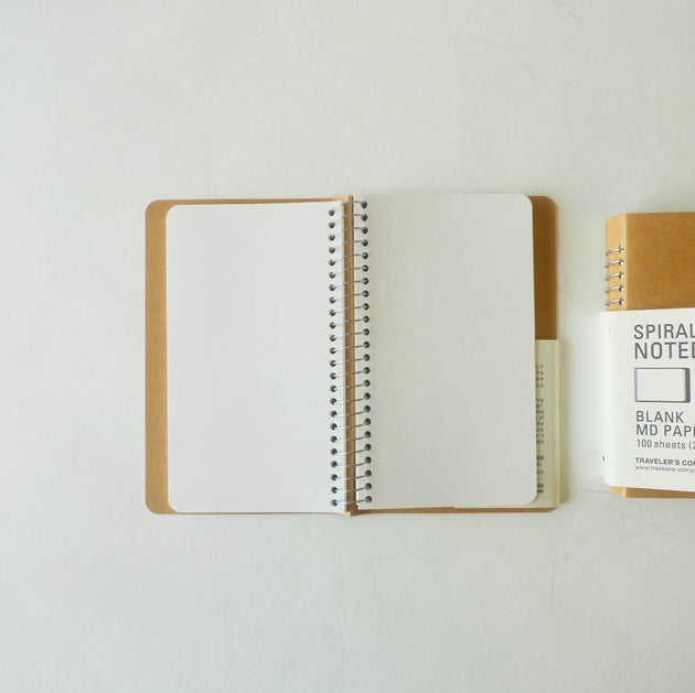 Spiral Ring Notebook: MD White