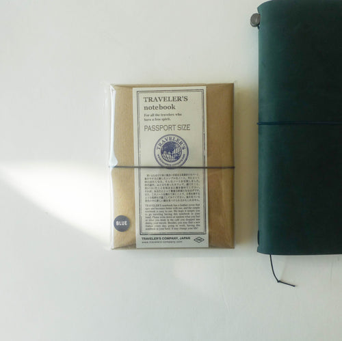 Traveler's Notebook (Passport Size) Starter Kit in BLUE (NEW!)