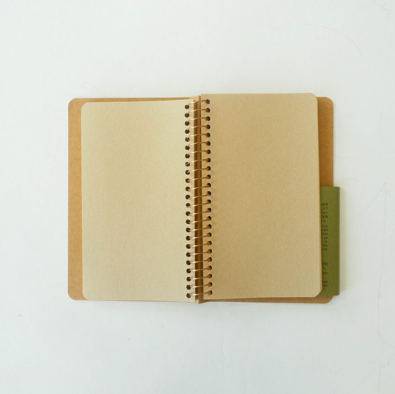Spiral Ring Notebook: Kraft Paper