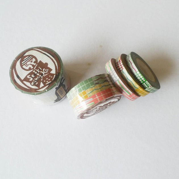 Mihoko Seki x Classiky Washi Tape: Textile 8mm Set of 3