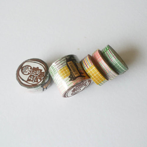 Mihoko Seki x Classiky Washi Tape: Textile 15mm (Set of 3)