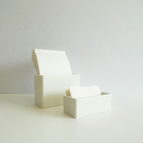 Classiky: White Porcelain Square Pot