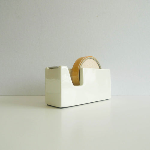 Classiky: White Porcelain Tape Dispenser