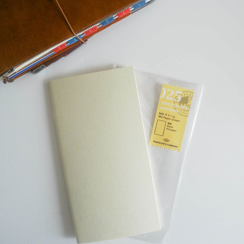 025 Refill MD Paper Cream Notebook (Regular Size)