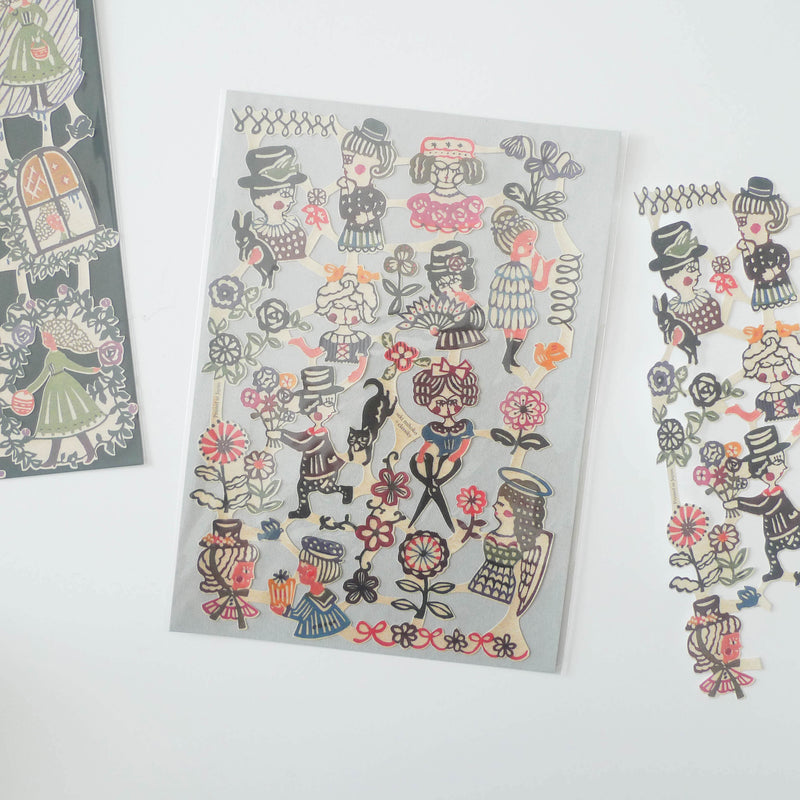 Mihoko Seki x Classiky: Water-activated Cut-out Stickers