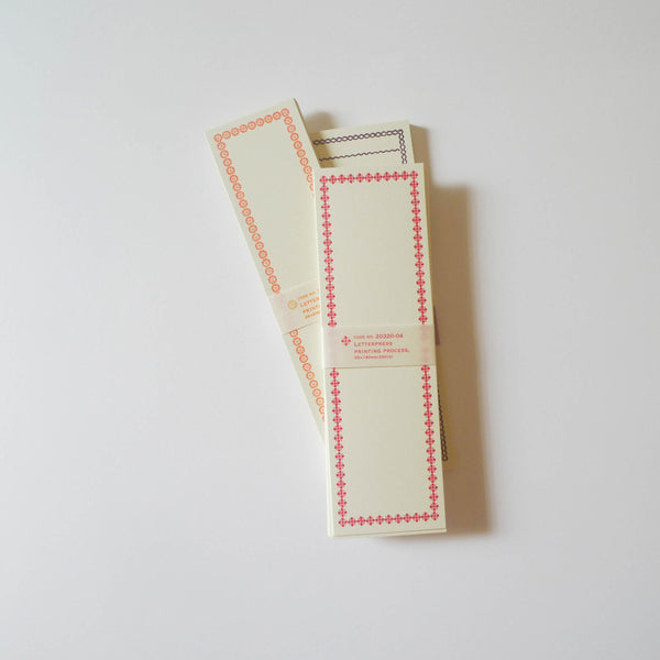 Classiky: Letterpress Folded Memo Card