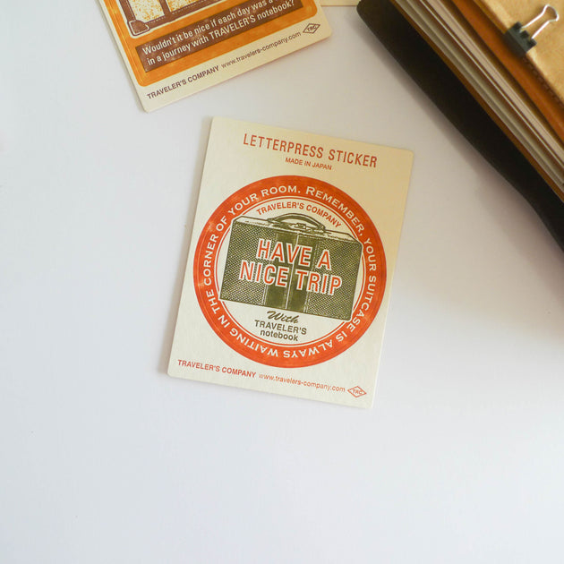 TRC Travel Tools: Letterpress Sticker (Red)