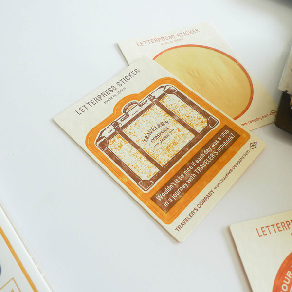 TRC Travel Tools: Letterpress Sticker (Yellow)