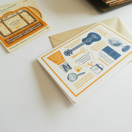 TRC Travel Tools: Letterpress Card (Blue)