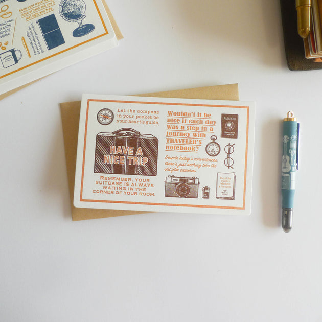 TRC Travel Tools: Letterpress Card (Brown)