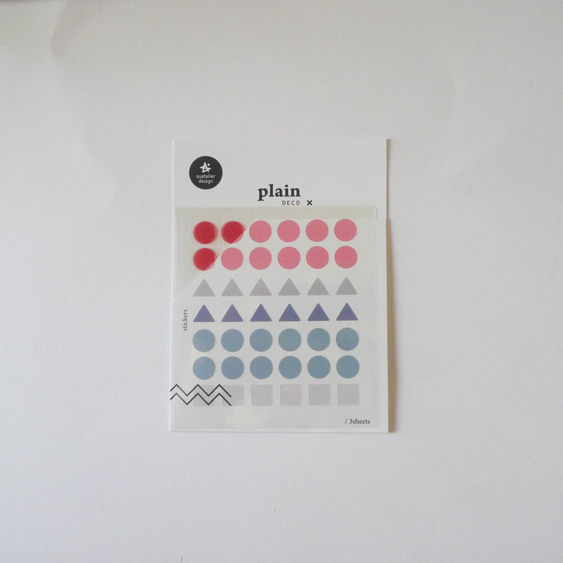 Suatelier: Plain Geometric Stickers (S)