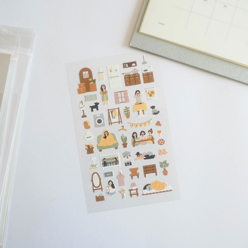 Suatelier Stickers: Vlog Home