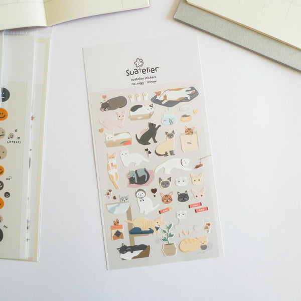Suatelier Stickers: Meow