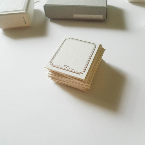 Oeda: Letterpress Mini Card Box Set