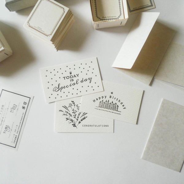 Oeda: Letterpress Greeting Card Set
