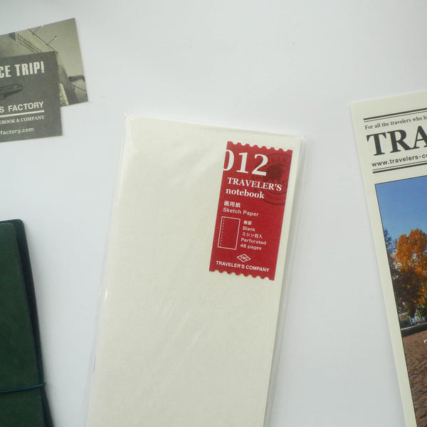 012 Refill Sketch Paper Notebook (Regular Size)