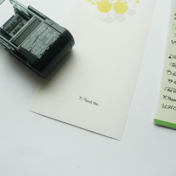 Midori: Paintable Rotary Stamp - Messages