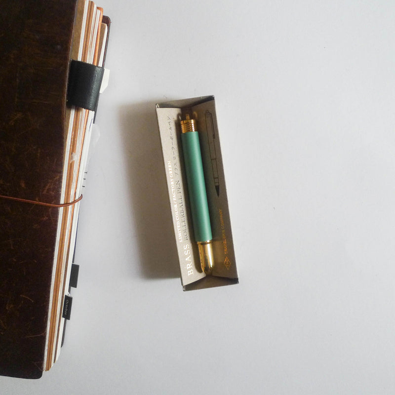 [LIMITED EDITION] Brass Rollerball Pen Factory Green