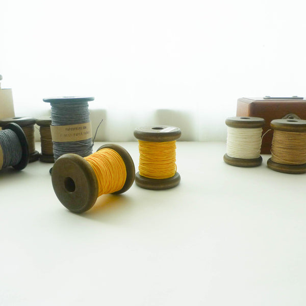 PaperPhine: Strong Paper Twine (Small Bobbins) - Yellow