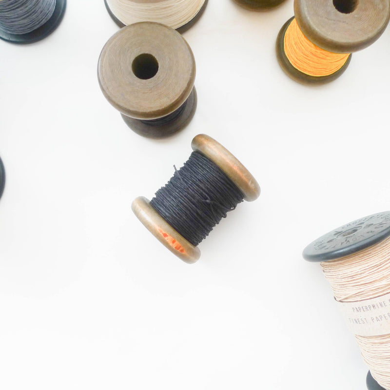 PaperPhine: Strong Paper Twine (Small Bobbins) - Black
