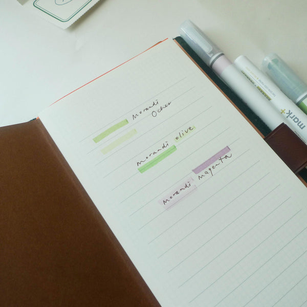 Kokuyo: Mark+ Dual Colour Highlighter (Morandi)