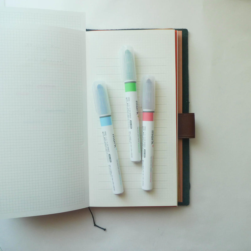 Kokuyo: Mark+ Dual Colour Highlighter (Island)