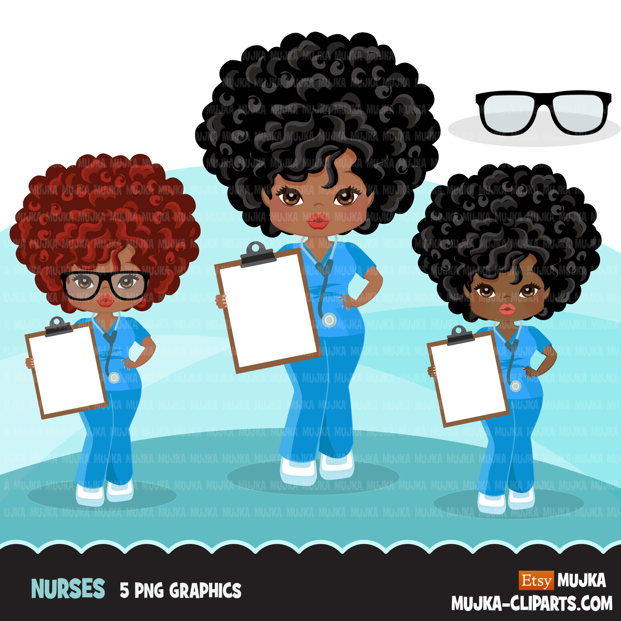 Medical Clipart BUNDLE, doctors, nurses, nicu nurse characters, hospital print and cut PNG digital Designs, covid clip art